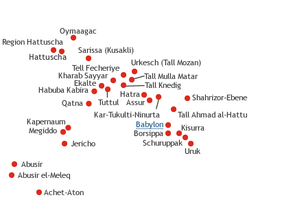Babylon Karte.Deutsche Orient Gesellschaft E V